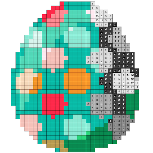 Easter Number Coloring Book - Color by Number 2018 Icon