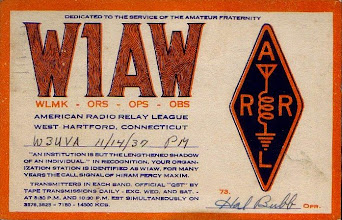 Photo: 1937 Early W1AW card signed by Hal Bubb