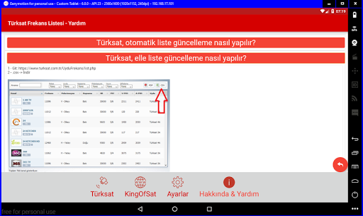 Turksat Frequency List screenshot 13