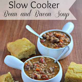 Slow Cooker Bean and Bacon Soup.