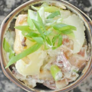Simple Potato Salad + Bacon + Onion.