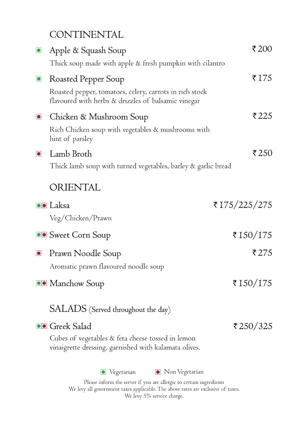 Branche - Golden Tulip Suites menu 17