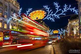 Photo: Regent Street Christmas Illuminations - London, U.K.  Everyone beating that Christmas rush in the busy shopping streets of West End London.  #RegentStreet  #Christmas   #London   #England   #UK   #GreatBritain     #Travel   #Photography   © Yen Baet - www.YenBaet.com. All Rights Reserved. Join me on Facebook at www.facebook.com/YenBaetPhotography.