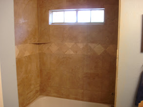 Photo: finished shower surround job W/13x13 porcelain