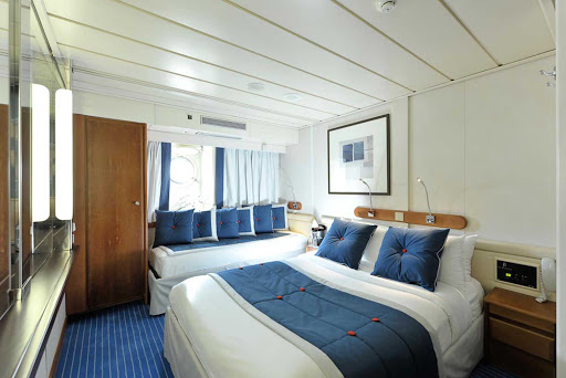 Ponant-stateroom.jpg - A stateroom on Le Ponant, part of the Ponant fleet of yachts cruising the seas.