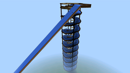 Water Slide Race map for MCPE