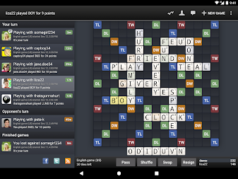 Wordfeud Free APK screenshot thumbnail 9