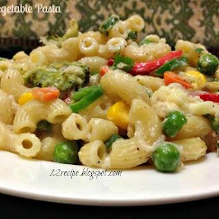 Creamy Vegetable Pasta.