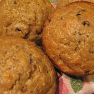 Peanut Butter, Banana, and Chocolate Chip Muffins