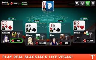 Screenshot of BlackJack for Tango