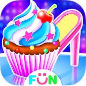 High Heel Cupcake Maker-Bakery Food Games Free