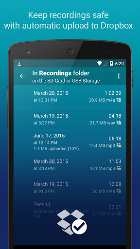Hi-Q MP3 Voice Recorder (Free) 2.6.2 screenshots 2