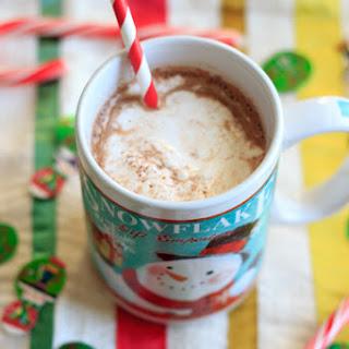 Peppermint Eggnog Hot Chocolate