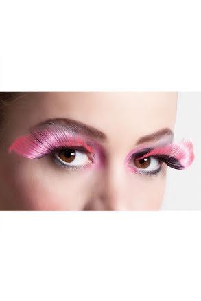 Lösögonfransar, svart/rosa