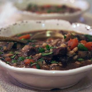 Instant Pot Beef Barley Soup.