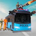 Police Bus Shooting Game : Bus Driving Simulator icon