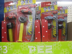 Photo: Ooh! And a Lightning McQueen Pez dispenser for a sweet treat.