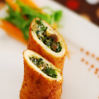 Spinach and Mushroom Rolls