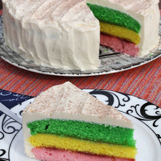 Easy Italian Rainbow Cookie Cake.