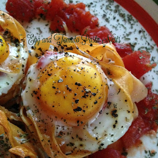 Egg and Tomato Pasta Nests