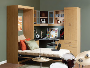Photo: Dreamsaver and home office, bed open