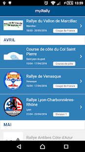 myRally Capture d'écran
