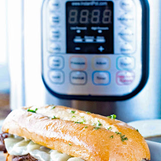 {Instant Pot} Pressure Cooker French Dip Sandwiches.
