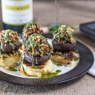 Provencal Stuffed Mushroom & Grilled Polenta