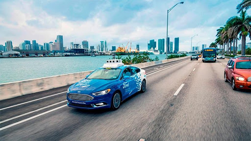 Ford is currently testing self-driving passenger cars in Miami.