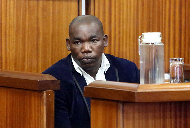Luthando Siyoni at a previous court appearance during the Panayiotou murder trial in the Port Elizabeth High Court.
