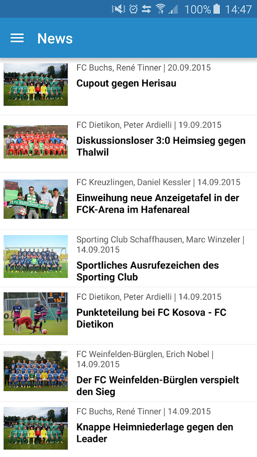 Regiosport LIVE - Liveticker – Screenshot