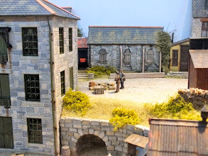 Photo: 018 Churches are quite common scenic features on layouts, but derelict churches are rather less so .