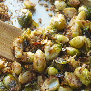 Panko and Parmesan Roasted Brussel Sprouts.
