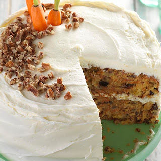 Gluten-Free Carrot Cake with Cream Cheese Frosting.