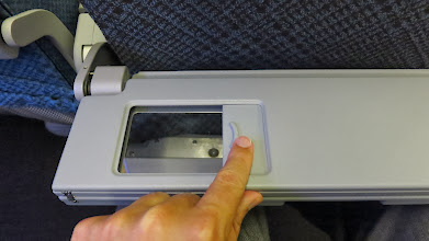 Photo: Good morning! Make up mirror in economy class tray table  on Singapore Air's new B777-300ER