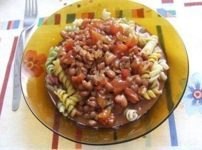 **** He also makes this chili with a pound of ground beef for the...