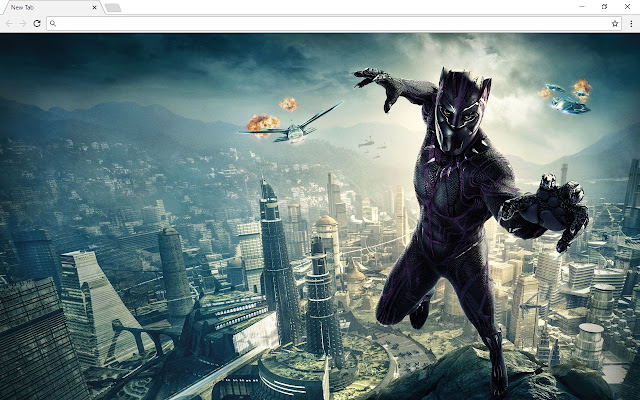 Black Panther Backgrounds & New Tab