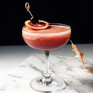 Frozen Blood and Sand Cocktail.