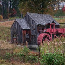 by Sarah Benoit Weir - Uncategorized All Uncategorized ( farm, autumn, waterwheel, fall, gristmill )