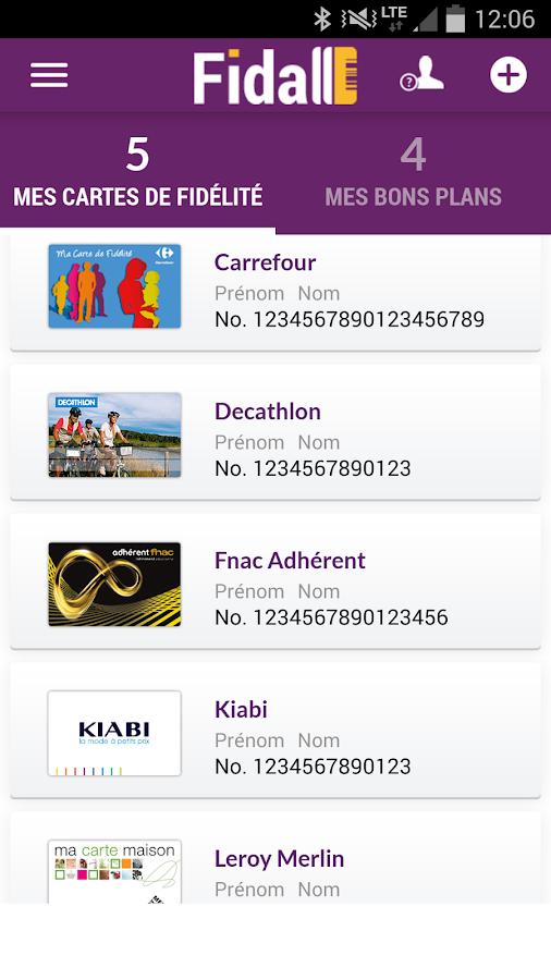 Fidall cartes de fidélité- screenshot