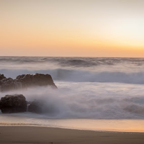 Big Sur Sunset by Mike Moss - Landscapes Sunsets & Sunrises
