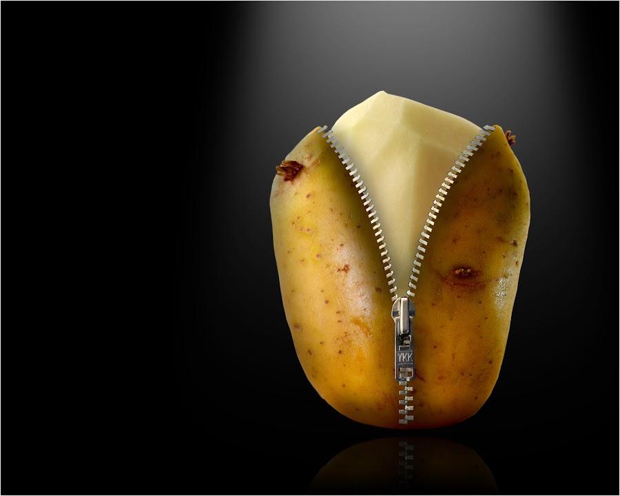 A Real 'Jacket' Spud. by Mark Shoesmith - Food & Drink Fruits & Vegetables ( jacket, zip, potato, spud, pwcvegetables, vegetable,  )