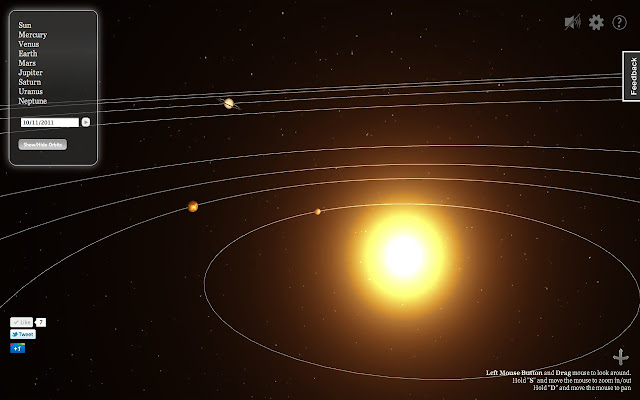 D Solar System Web Chrome Web Store - Solar system map 3d