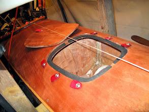 Photo: front hatch, weatherstrip detail