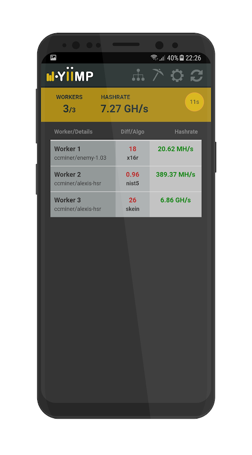 Yiimp Balance Monitor 4