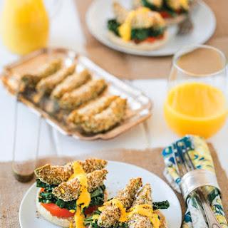 Parmesan-Crusted Avocado & Kale Florentine with Smoked Paprika Hollandaise