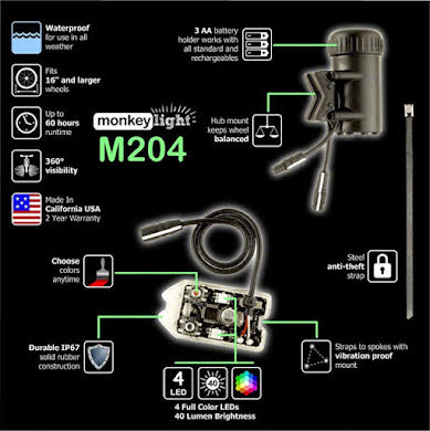 MonkeyLectric M204 R-Series USB-Rechargeable Monkey Light alternate image 2