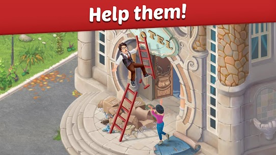 Family Hotel: Renovation & love storymatch-3 game Apk Download For Android 2