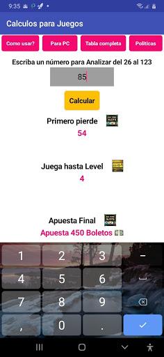 Calculo para Juegos screenshot 1