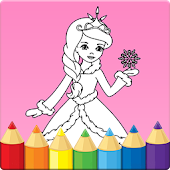Kids coloring book: Princess